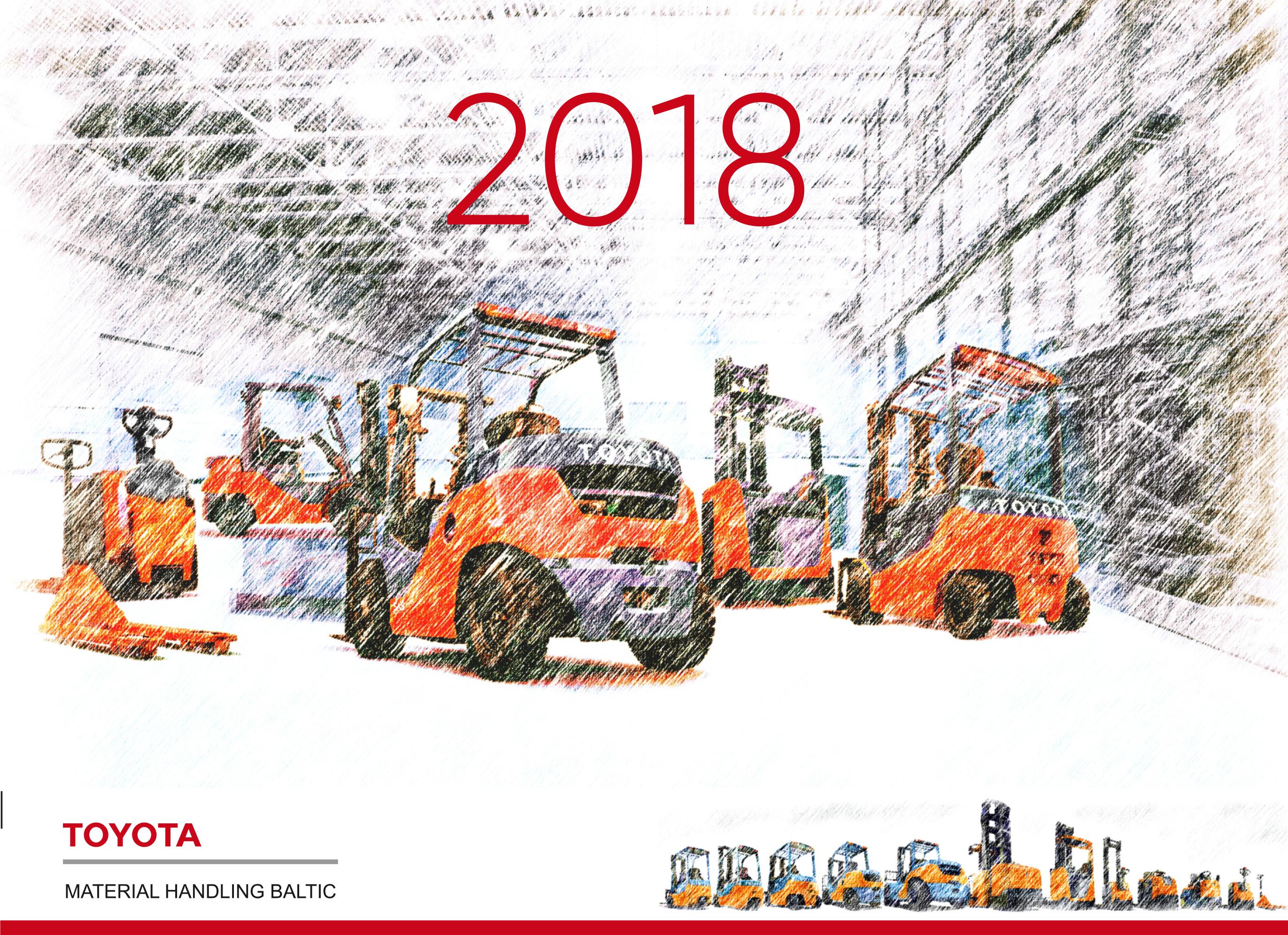 Galda kalendārs Toyota 2018