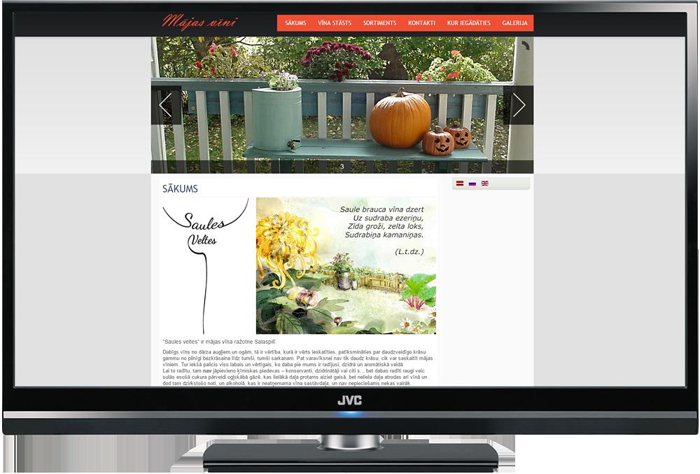 Mājas lapa uz Joomla